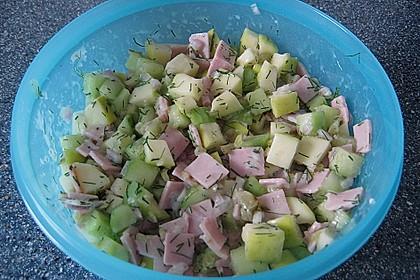 Gurkensalat mit Apfel 2