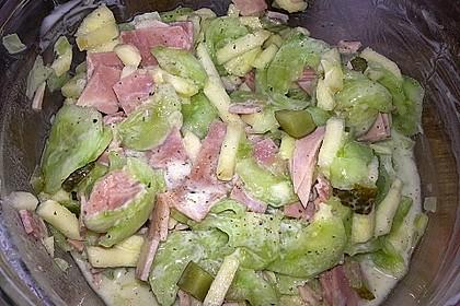 Gurkensalat mit Apfel 4