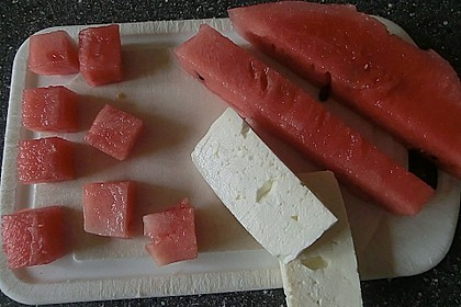 Wassermelone mit Feta 10