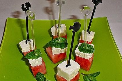 Wassermelone mit Feta 7