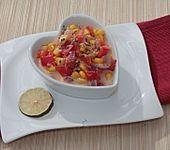 Paprika - Mais - Gemüse mit Basilikum