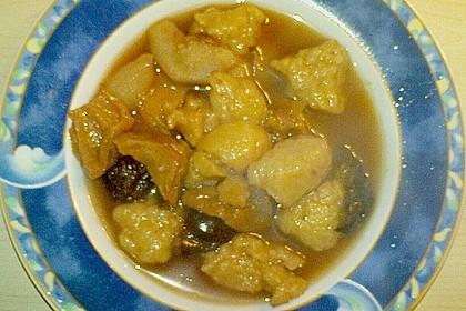 Obstsuppe mit Mehlklunker 1