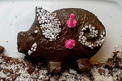 Kuchen in Silikon - Schweinchenform
