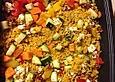 Bulgur - Gemüse - Feta - Auflauf mit Pinienkernen