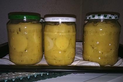 Grüne Gurken - Senfgurken