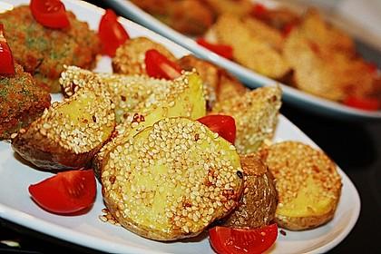Sesamkartoffeln aus dem Ofen 2