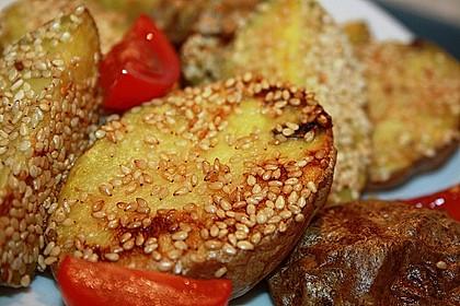 Sesamkartoffeln aus dem Ofen