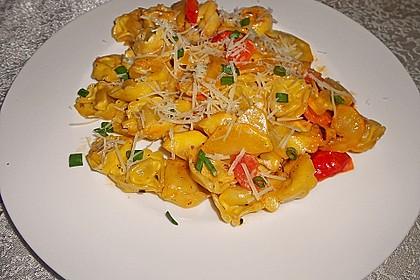 Vegetarische Tortellini - Pfanne 16
