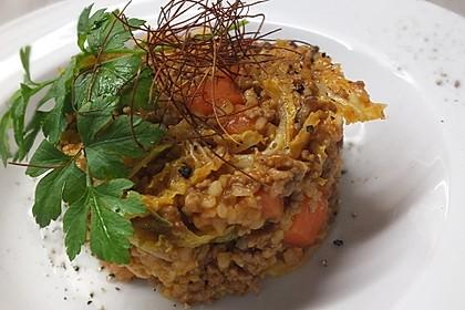 Bulgur mit Hackfleisch und Gemüse