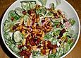 Klassischer Feldsalat mit Tomatendressing