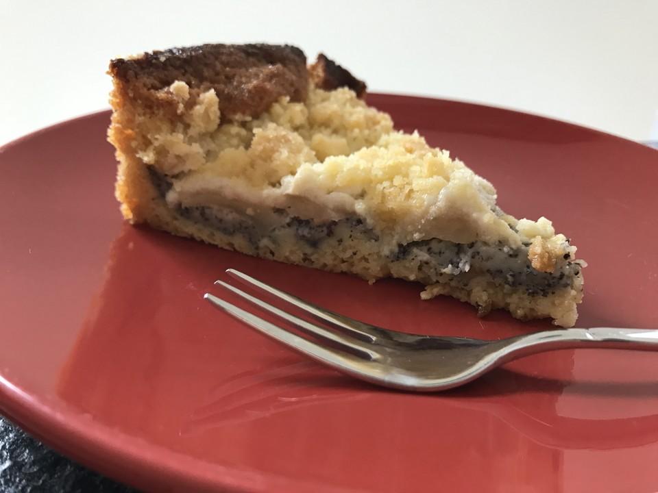 Apfelkuchen mohn pudding