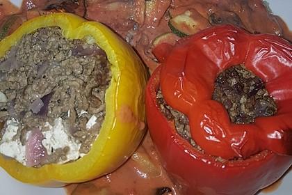 Gefüllte Paprika mit Hackfleisch, Feta und Zucchini 29