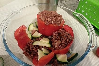 Gefüllte Paprika mit Hackfleisch, Feta und Zucchini 44