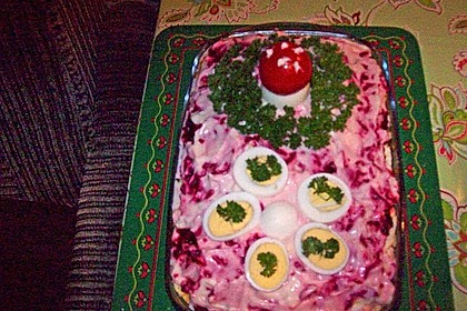 Russischer Schichtsalat 'Hering im Pelzmantel' 30