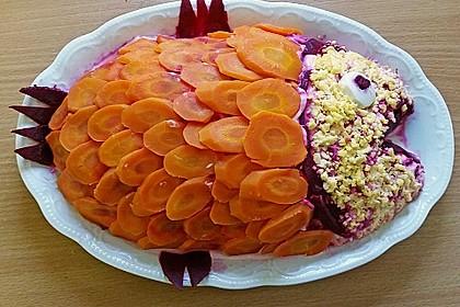 Russischer Schichtsalat 'Hering im Pelzmantel' 5