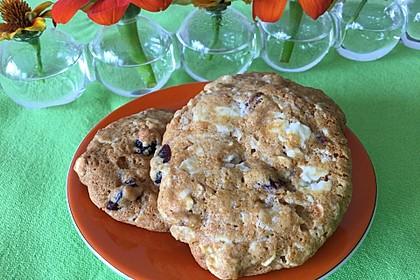 Urmelis weiße Schokolade - Cranberry - Haferflocken - Cookies 14