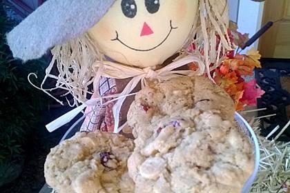 Urmelis weiße Schokolade - Cranberry - Haferflocken - Cookies 1