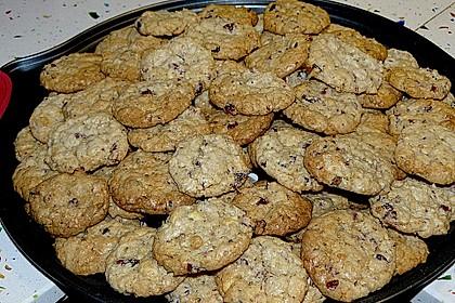 Urmelis weiße Schokolade - Cranberry - Haferflocken - Cookies 16