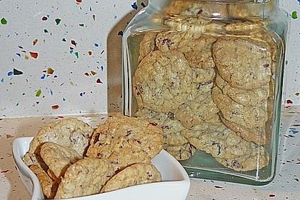 Urmelis weiße Schokolade - Cranberry - Haferflocken - Cookies 12