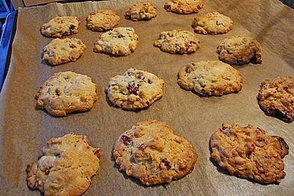 Urmelis weiße Schokolade - Cranberry - Haferflocken - Cookies 9