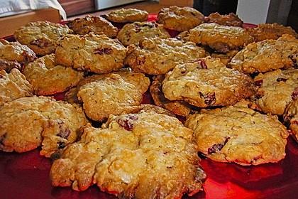 Urmelis weiße Schokolade - Cranberry - Haferflocken - Cookies 21