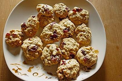 Urmelis weiße Schokolade - Cranberry - Haferflocken - Cookies 2