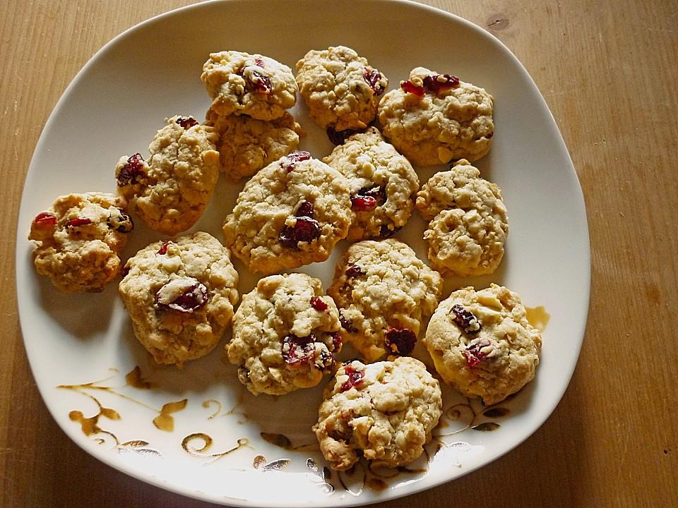 haferflocken kekse mit cranberries und wei er scho rezepte suchen. Black Bedroom Furniture Sets. Home Design Ideas