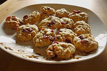 Urmelis weiße Schokolade - Cranberry - Haferflocken - Cookies 7