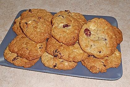 Urmelis weiße Schokolade - Cranberry - Haferflocken - Cookies 11