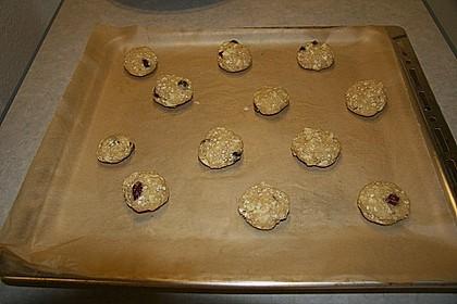 Urmelis weiße Schokolade - Cranberry - Haferflocken - Cookies 26