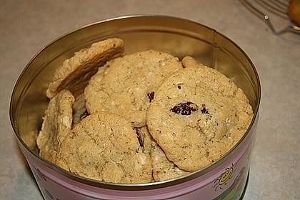 Urmelis weiße Schokolade - Cranberry - Haferflocken - Cookies 10