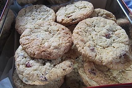 Urmelis weiße Schokolade - Cranberry - Haferflocken - Cookies 22