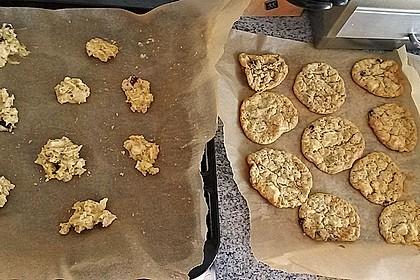 Urmelis weiße Schokolade - Cranberry - Haferflocken - Cookies 18