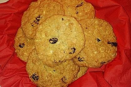 Urmelis weiße Schokolade - Cranberry - Haferflocken - Cookies 17