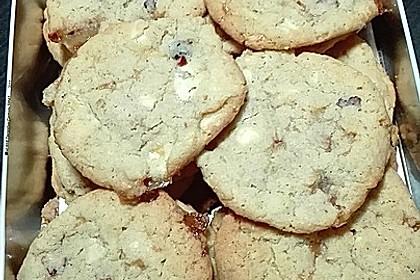 Urmelis weiße Schokolade - Cranberry - Haferflocken - Cookies 25