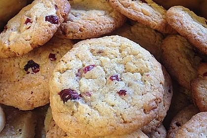 Urmelis weiße Schokolade - Cranberry - Haferflocken - Cookies 4