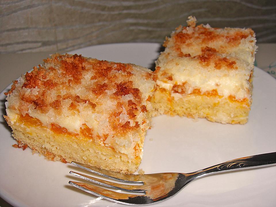 Kuchen mit schmand und kokos