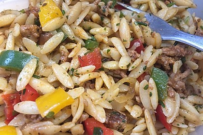 Kritharaki - Salat mit Hackfleisch 22
