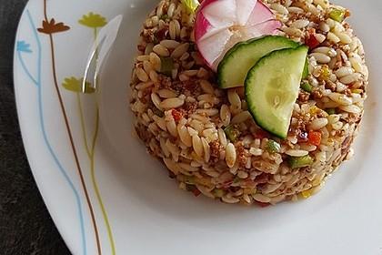 Kritharaki-Salat mit Hackfleisch 2
