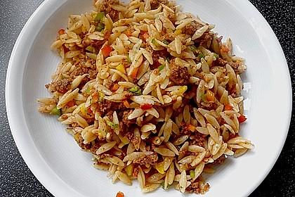 Kritharaki-Salat mit Hackfleisch 11