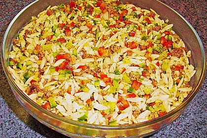Kritharaki - Salat mit Hackfleisch 14