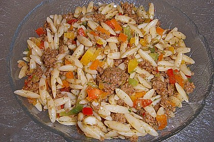 Kritharaki - Salat mit Hackfleisch 15