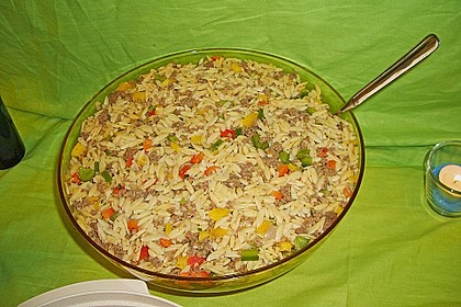 Kritharaki - Salat mit Hackfleisch 11