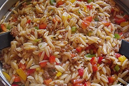 Kritharaki - Salat mit Hackfleisch 5
