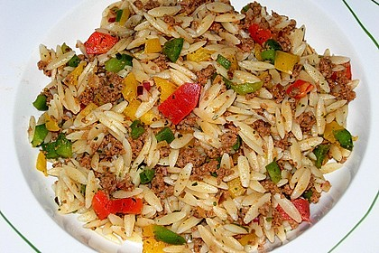 Kritharaki-Salat mit Hackfleisch 3