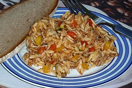 Kritharaki-Salat mit Hackfleisch 34