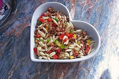Kritharaki - Salat mit Hackfleisch 13