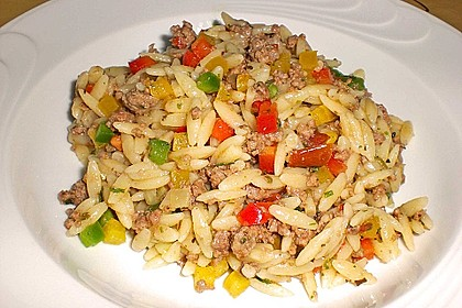 Kritharaki - Salat mit Hackfleisch 8