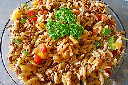 Kritharaki - Salat mit Hackfleisch 4