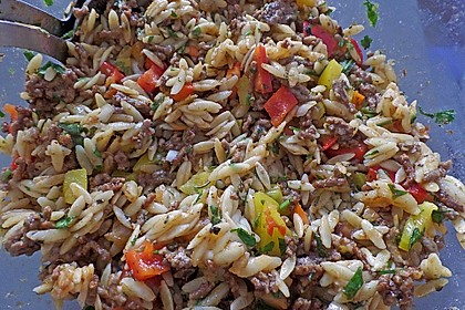 Kritharaki - Salat mit Hackfleisch 16